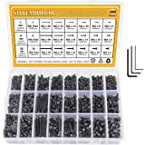 M2 M3 M4 Alloy Steel Screws Nuts and Washers 1200PCS, Sutemribor Hex Socket Head Cap Bolts Screws Nuts Washers…