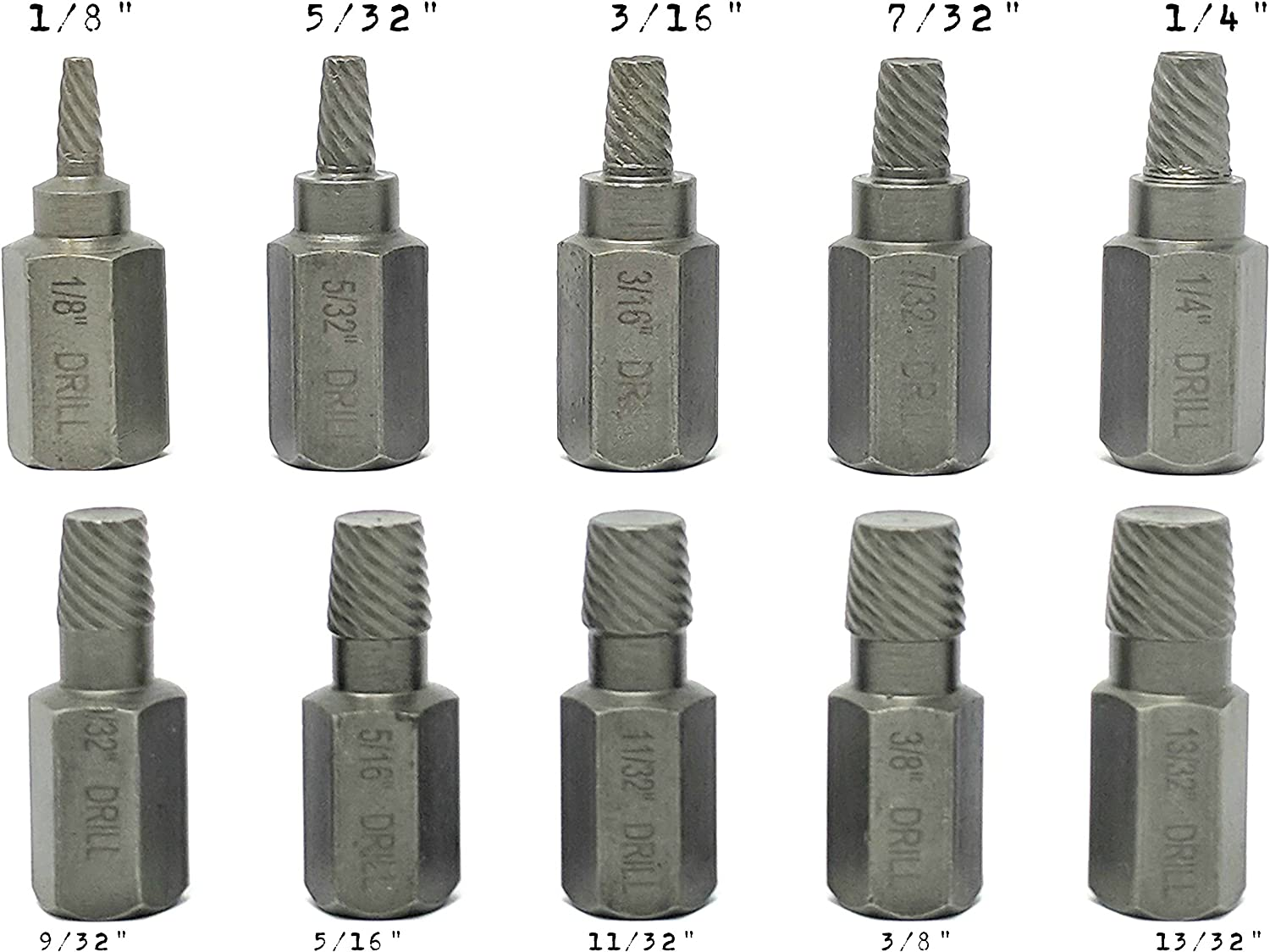 Metric//SAE Performance Tool w38920 W38920 3//8 Dr NULL 5 Piece Deep Wall Bolt Extractor Set