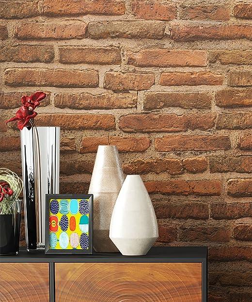 Steintapete Vlies Rot Braun Natur Stein | Schöne Edle Tapete Im Steinmauer  Design | Moderne 3D