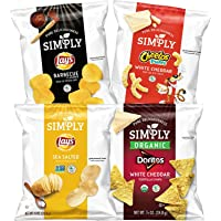 36-Count Simply Brand Organic Chips 0.875 Ounce Bags Variety Pack