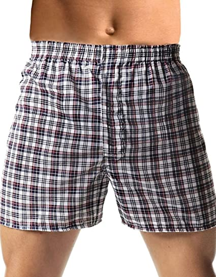 d05240a55 Hanes Men s TAGLESS® Tartan Boxers with Comfort Flex® Waistband 2X 5-Pack  at Amazon Men s Clothing store
