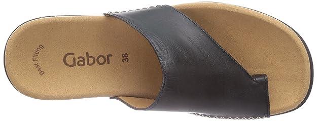 Amazon.com: Gabor Sandalias Lanzarote 03.700.27 Negro de la ...