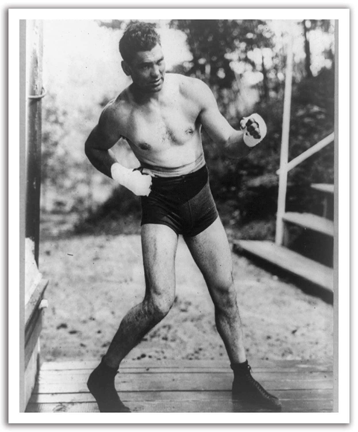 JP London POS2474 U-Strip Peel and Stick Vintage Jack Dempsey Boxing Champ Removable Wall Decal Sticker Mural,  19.75' by 24'