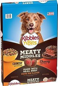Kibbles 'n Bits Meaty Middles Prime Rib Flavor, Dry Dog Food, 15 Pound Bag