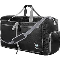"Bago 60L Packable Duffle Bag for Women & Men - 23"" Foldable Travel Duffel Bag (Black)"