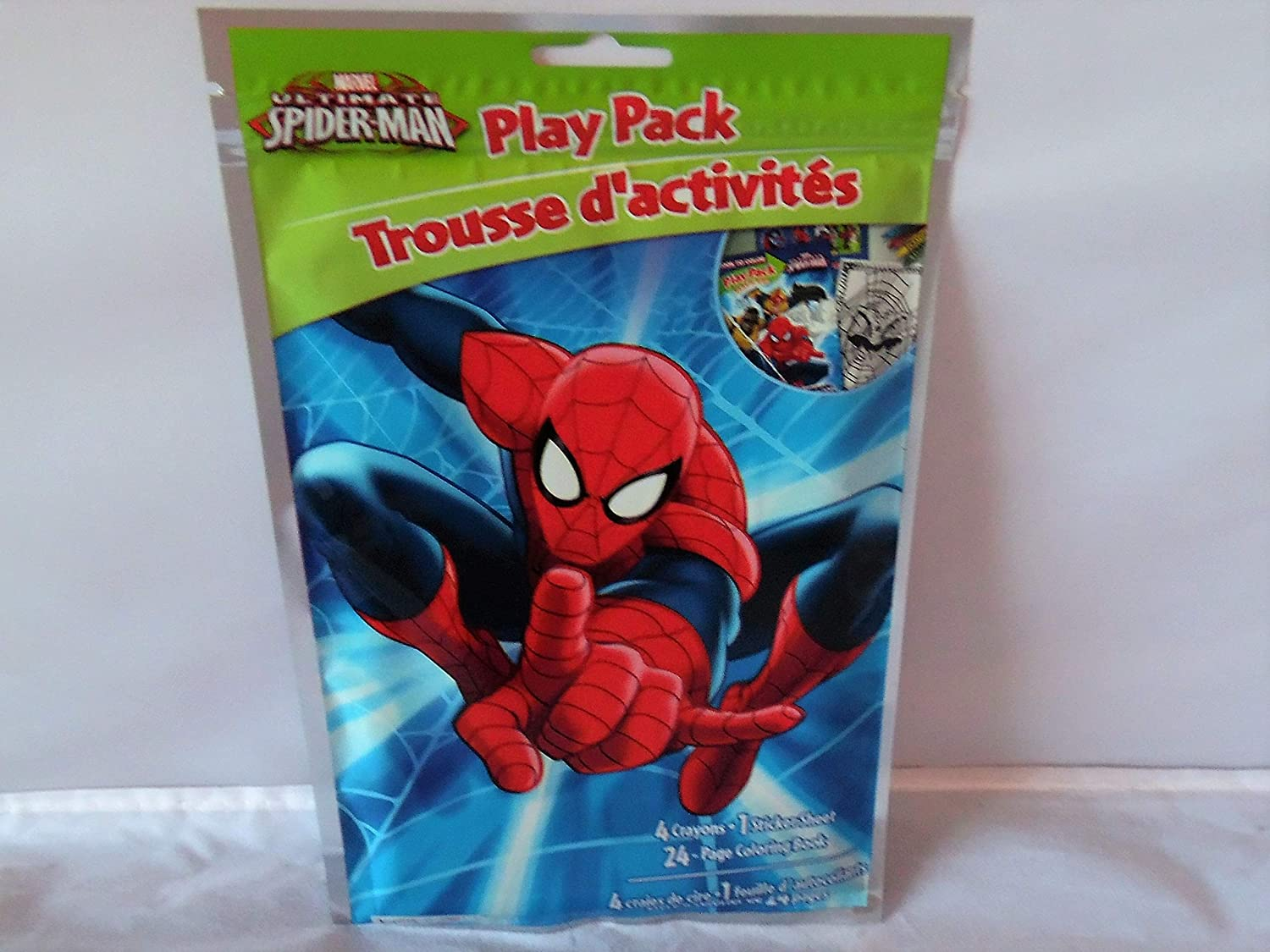 /& Play Pack Coloring Book Jumbo Playing Cards Bendon Spiderman 4 Pack-Puzzle
