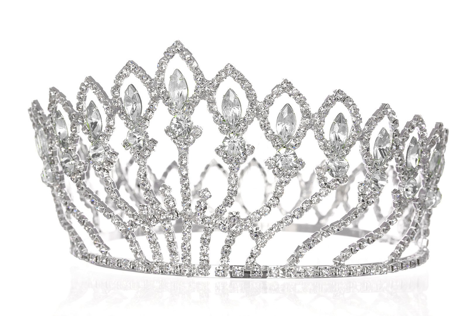 how to clean wedding crown from spray