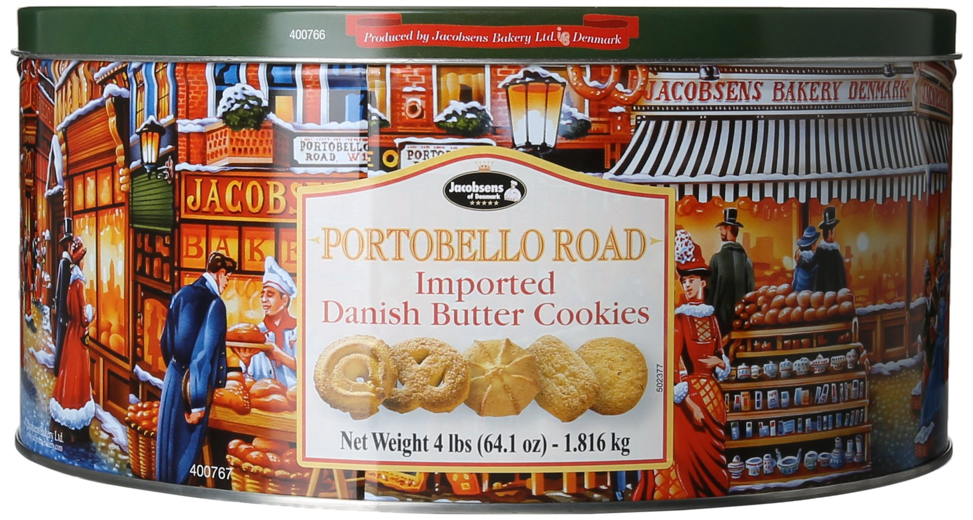 Jacobsen's Danish Butter Cookies Tins, 240 Count by Jacobsen's