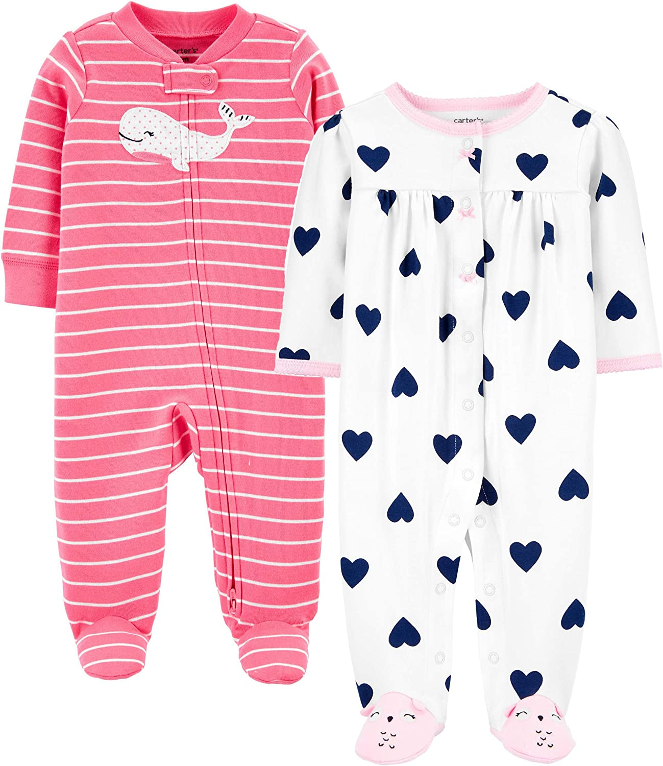 Blue Cherry Carters Baby Girls Snap Up Cotton Sleep /& Play 9 Months