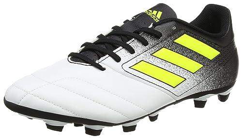 TG. 46 2/3 EU adidas Ace 17.4 FxG Scarpe da Calcio Uomo Giallo Footwear Whi