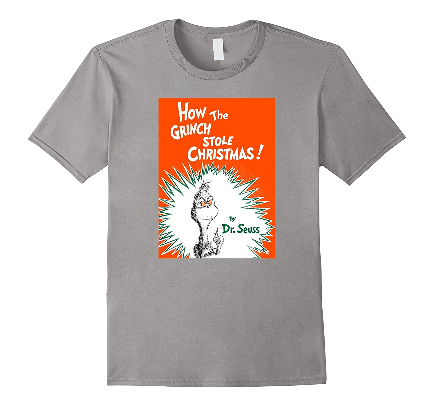 How The Grinch Stole Christmas Book Cover.Dr Seuss How The Grinch Stole Christmas Book Cover T Shirt Rt