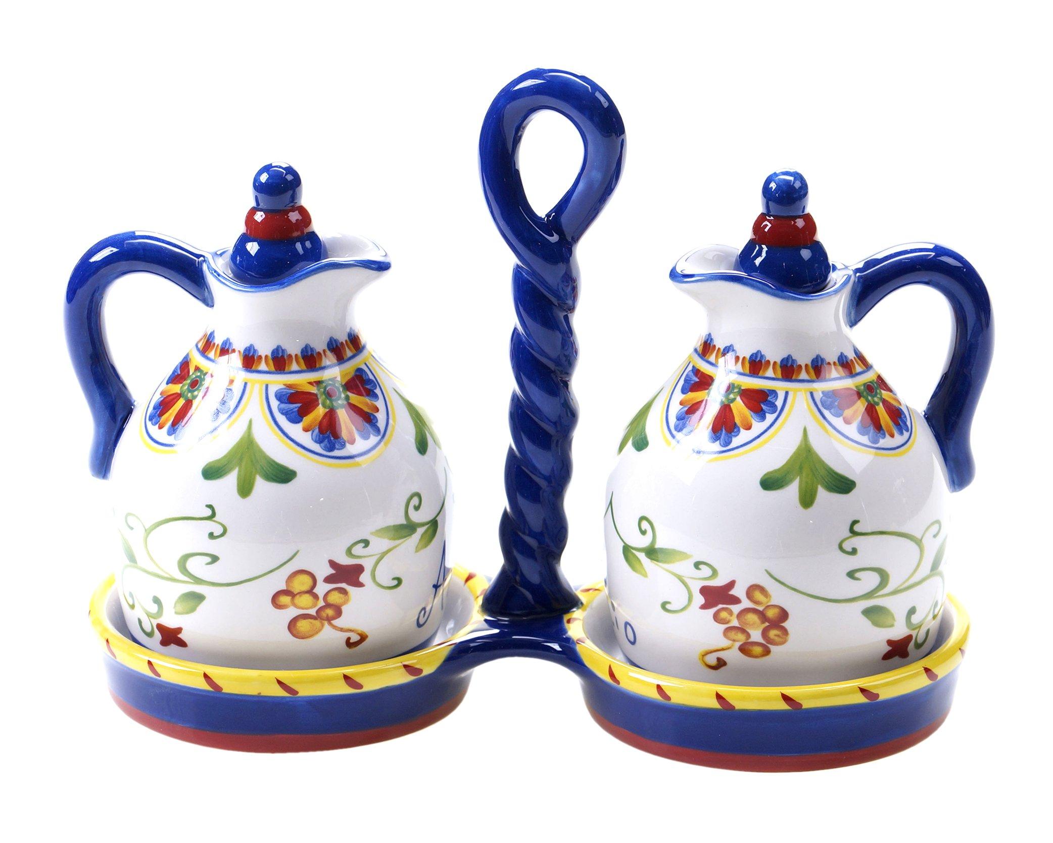 Certified International Amalfi 3-Piece Oil and Vinegar Set