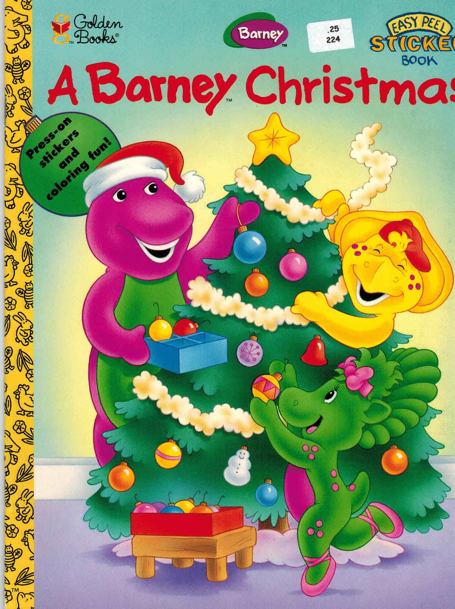 A Barney Christmas: Press-on Stickers and Coloring Fun (Easy Peel ...