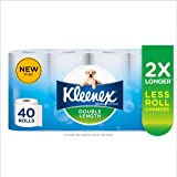 KLEENEX Double Length Toilet Tissue, 40 Rolls
