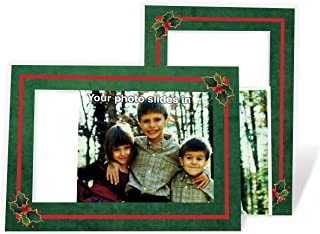 product image for Holly Holiday Card - 4x6 Photo Insert Note Cards - 24 Pack by Plymouth Cards