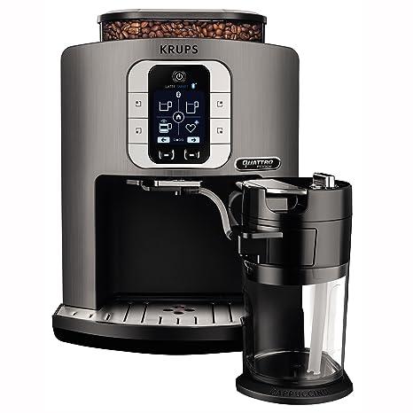 Krups EA860E Independiente Totalmente automática Máquina espresso 1.7L 1tazas Plata - Cafetera (Independiente,
