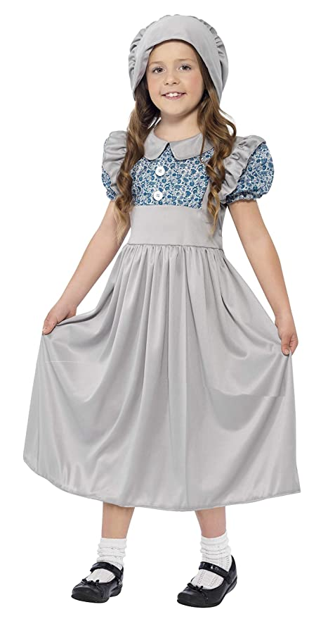 Victorian Kids Costumes & Shoes- Girls, Boys, Baby, Toddler Smiffys Victorian School Girl Costume Grey $12.85 AT vintagedancer.com