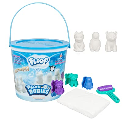 Play Visions 4602 Floof Modeling Clay - Reuseable Indoor Snow - Endless Creations with 3 Polar Baby Molds and Pawprint Roller: Home & Kitchen