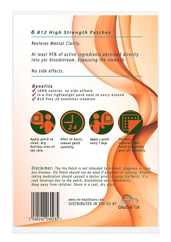 Viepatch vitamina B12 Plus 10 alta resistencia parches 5000mcg: Amazon.es: Electrónica