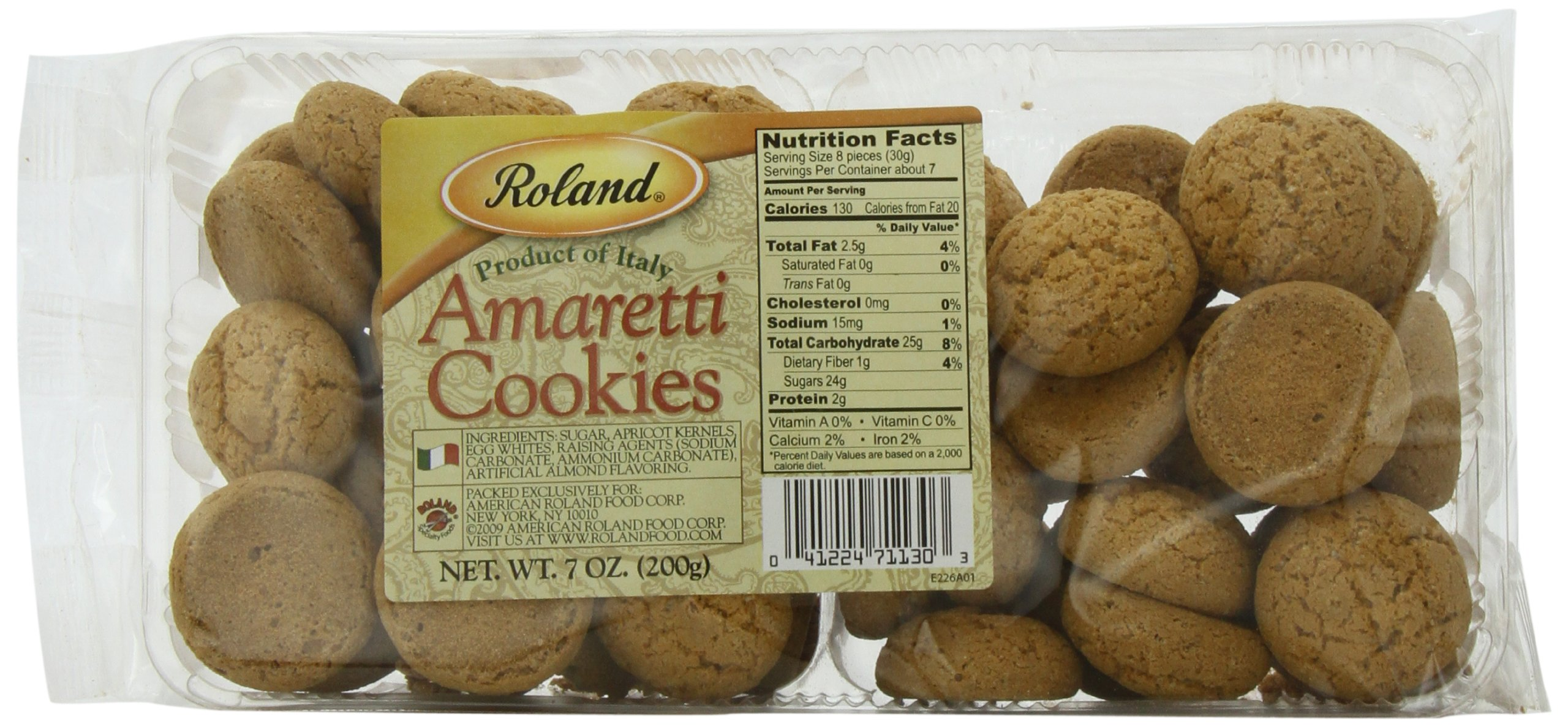 Roland Foods Amaretti Cookies, 7 Ounce (Pack of 5) by Roland