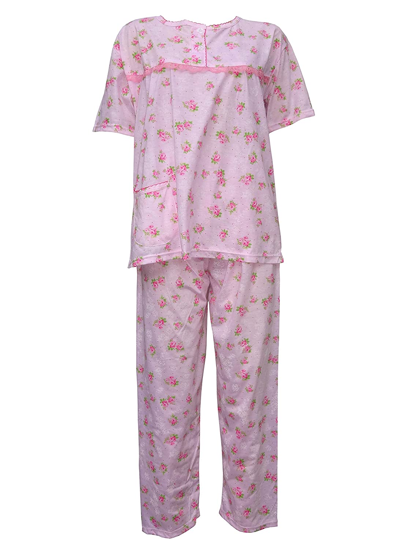 e83358e906 Women s Pyjama Sets Floral Print Nightwear Ladies Short Sleeve PJ s Nightie  8-18 (191)