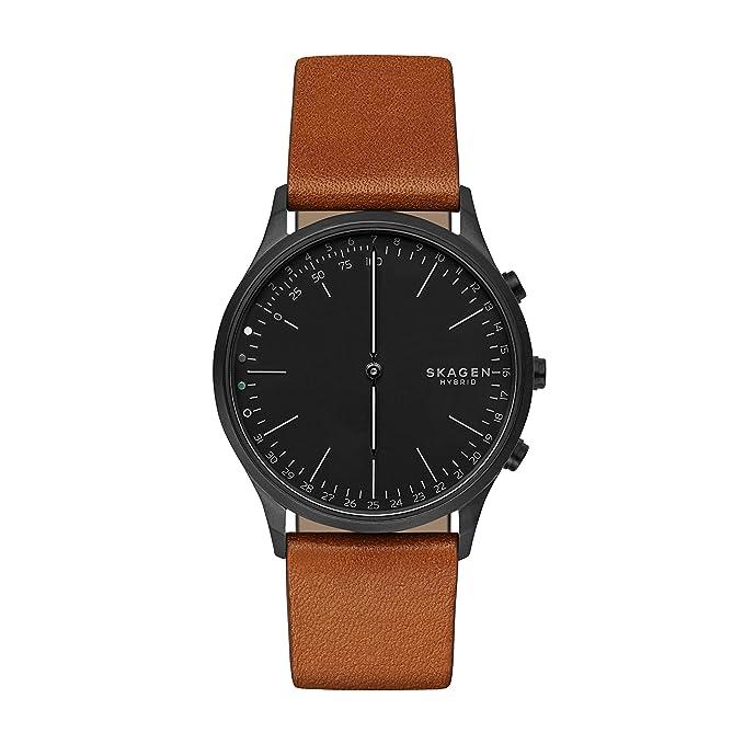 Skagen Reloj Analogico para Unisex de Cuarzo con Correa en Cuero SKT1202: Amazon.es: Relojes