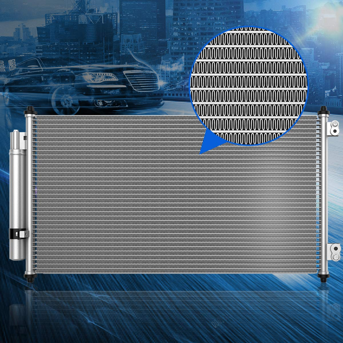 Maxiii Air Conditioning A//C Condenser For Honda Accord LX HFP LX-S Coupe LX-P SE Sedan Crosstour EX//EX-L Hatchback