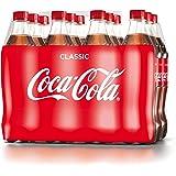 Coca-Cola Classic / Pure Erfrischung mit unverwechselbarem Coke Geschmack in stylischem Kultdesign / 12 x 500 ml Einweg Flasche