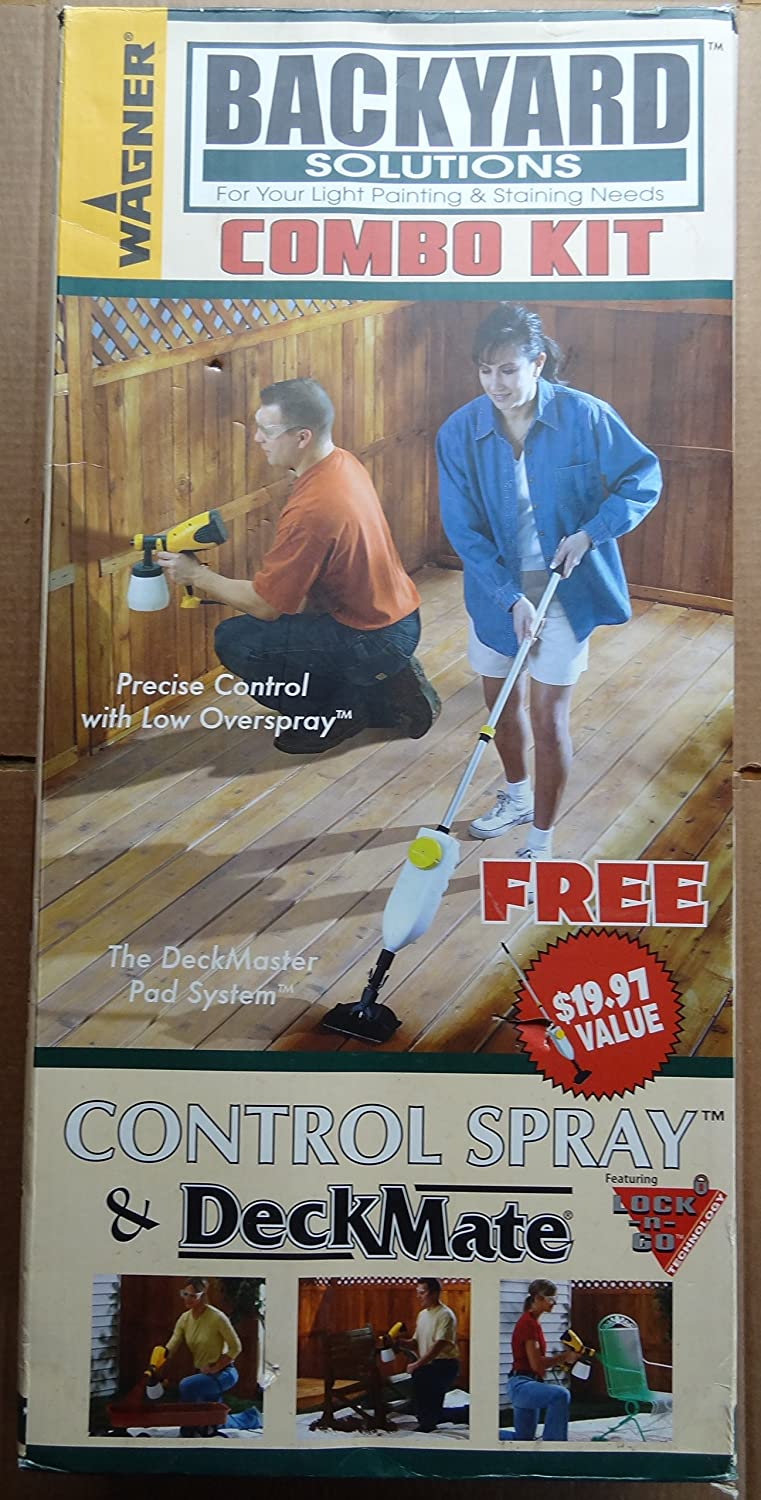 Wagner 0284069D Backyard Solutions Kit Control Spray and DeckMate Paint Sprayer and Deck Stainer