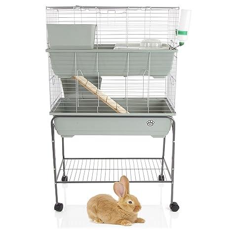 Jaula de conejo / cobaya, 2 niveles, interior con soporte por Cozy ...