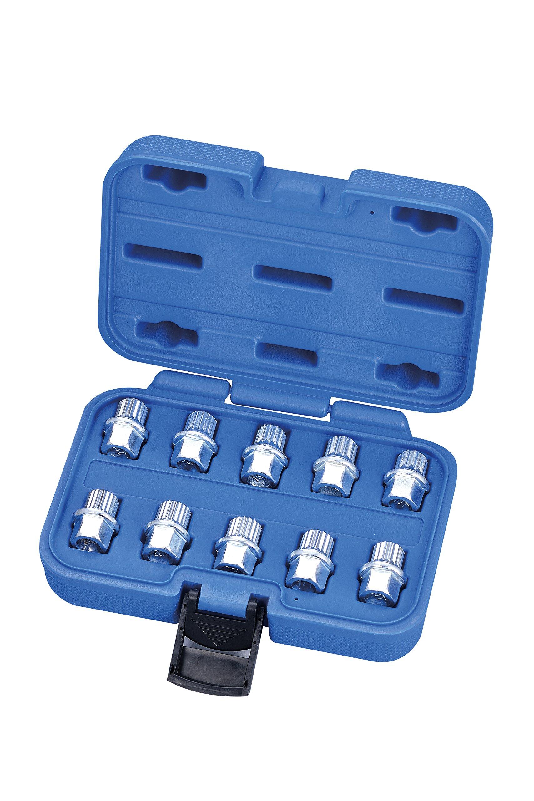kauplus 10PCS Lug Nuts, Wheel Lock Key- Anti Theft Wheel Lock Key Set for Cars Wheel Tire Nut Screw Removal by kauplus