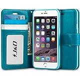 iPhone 6S / 6ケース、【J&D】Apple iPhone 6S, iPhone 6 のための「手帳型」「ウォレットスタンド」「スリムフィット」ヘビーデューティ保護耐衝撃フリップウォレットケース (ターコイズ) [並行輸入品]