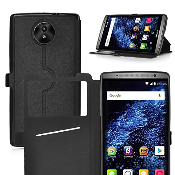 premium selection 40193 8b803 BLU STUDIO XL LTE Case, IVSO BLU STUDIO XL LTE Case [View Window] [Full  Range Protection] Linen Texture Slim Leather Case Cover for BLU STUDIO XL  LTE ...