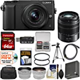 Panasonic Lumix DMC-GX85 4K Wi-Fi Digital Camera & 12-32mm (Black) with 45-150mm Lens + 64GB Card + Case + Battery + Tripod + Tele/Wide Lens Kit