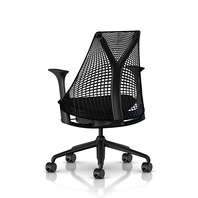 GroB Amazon.com: Herman Miller Sayl Task Chair: Tilt Limiter   Stationary Seat  Depth   Stationary Arms   Standard Carpet Casters   Black Base U0026 Frame:  Kitchen U0026 ...