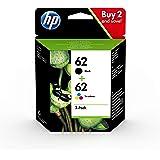 HP 62 N9J71AE, Negro y Tricolor, Cartuchos de Tinta Originales, Pack de 2, compatible con impresoras de inyección de…