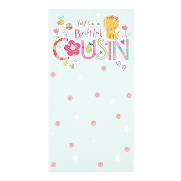 Hallmark Cousin Birthday Cardsimply Wonderful Medium Slim