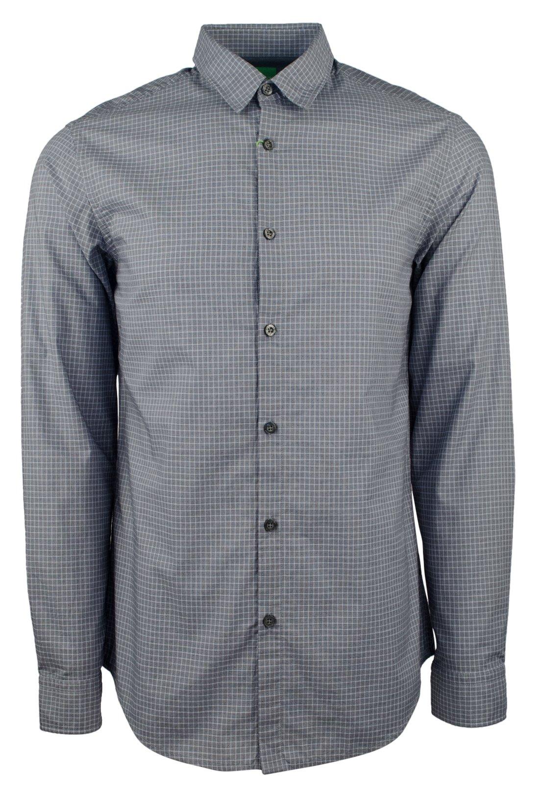 Hugo Boss Men's Green Label C-Bustai Regular Fit Geometric Dress Shirt-BG-S