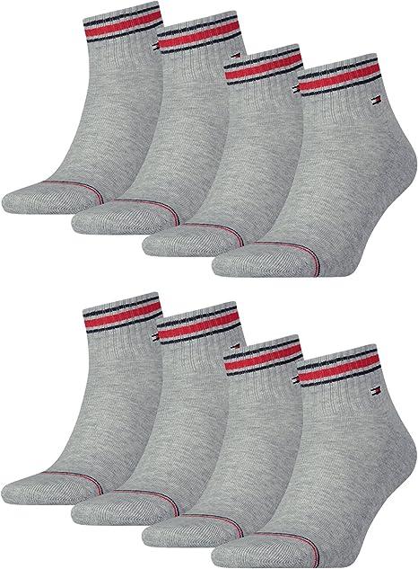 Tommy Hilfiger - Calcetines deportivos para hombre con suela de rizo de toalla, 8 unidades Gris Tommy Original (085) 9/11: Amazon.es: Ropa y accesorios