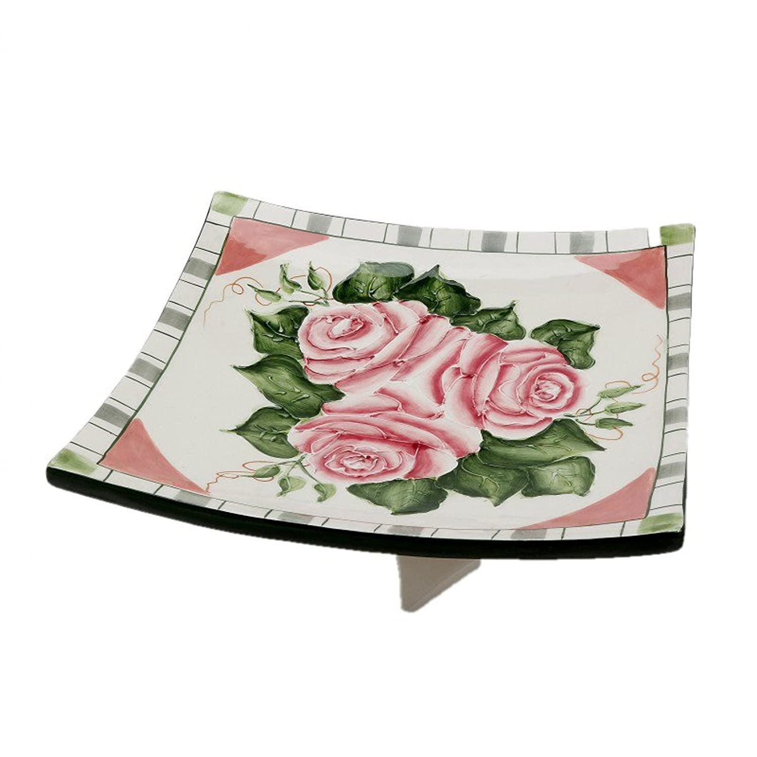 Cosmos Gifts 306-03 Romantic Rose Collection Ceramic Plate