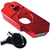 Racing 1 Motorcycle Grip Lock By Secure Your Motorcycle/Bike/ATV/Moped/Scooter. Locks Your Grip/Brake/Throttle/Handlebar (Red)