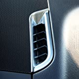 2Pcs New Chrome Dashboard AC Air Vent Trim Cover