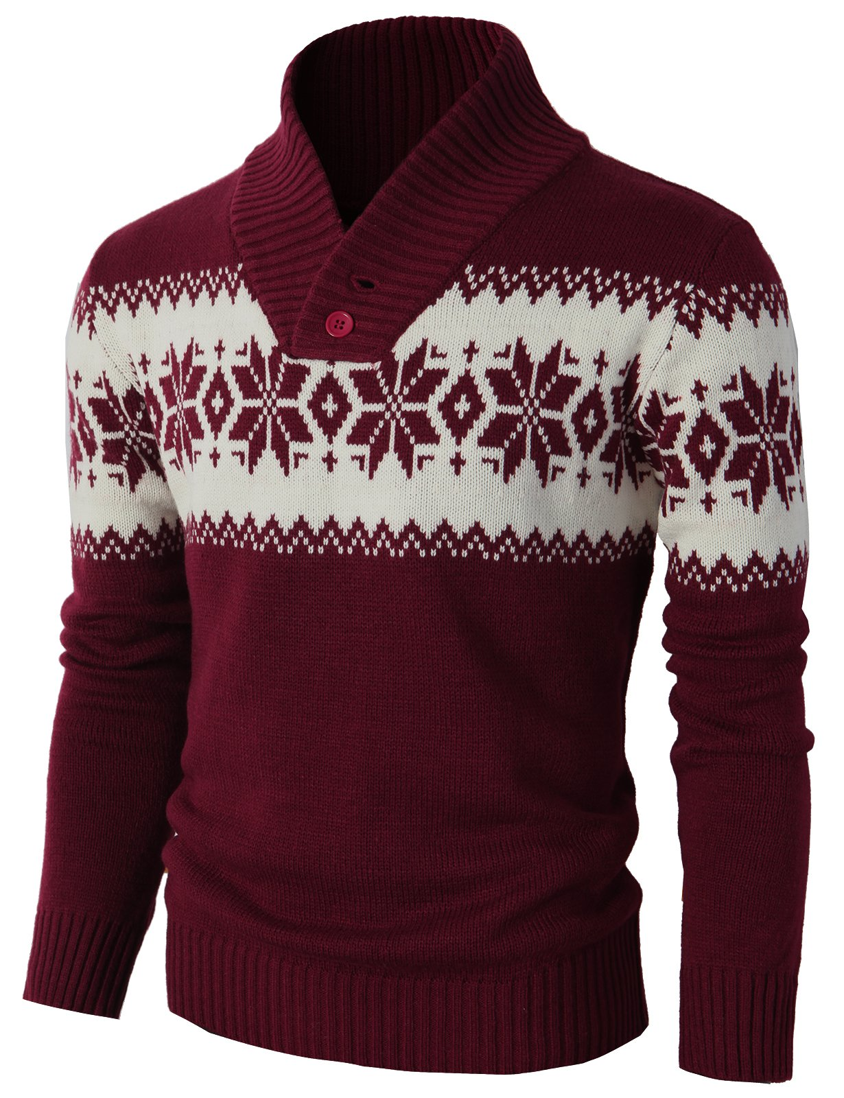 Men's Casual Slim Fit Knitted Pullover Sweaters of Various Christmas Pattern 3