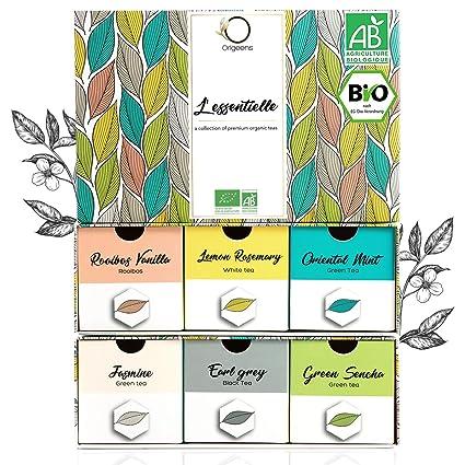 Bio Tee Set Geschenk Set Premium Teesortiment 6 Sorten Naturliche Aromen Probierset 48 Beutel Geschenk Idee Amazon De Lebensmittel Getranke