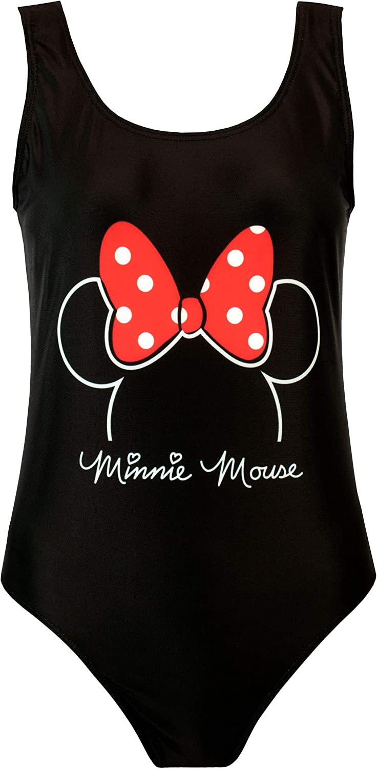 Womens Minnie Mouse SwimsuitLadies Disney Minnie Mouse Swimming Costume