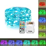 YiHong String Lights Battery Operated with Remote Timer Multicolored Fairy Lights Color Changing RGB Firefly Lights 13 Individual Colors LED Twinkle Lights for Bedroom Patio Party Valentines Day