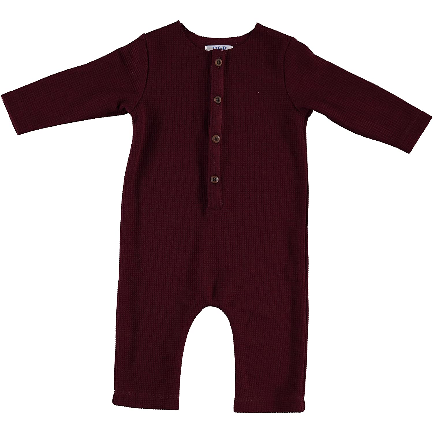 Piccino Piccina Fitted Soft Waffle Maroon Longall