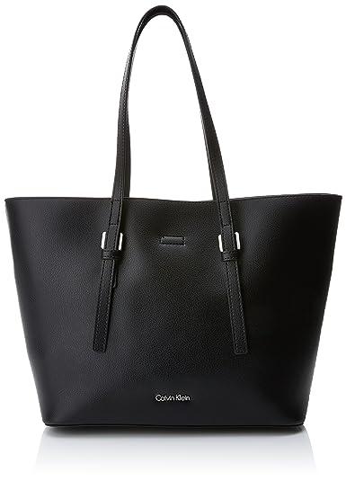 Ck ShopperCabas FemmeNoirblackck Calvin Klein Zone Medium zMVLUpqGS