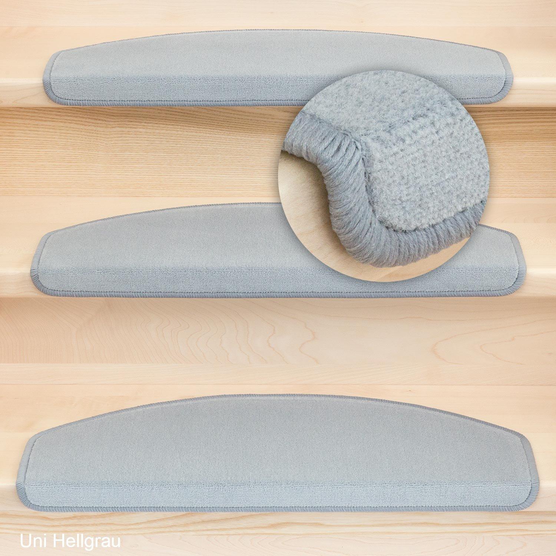 Kettelservice-Metzker Stufenmatten Stufenmatten Stufenmatten Vorwerk Uni Halbrund 65x24x4cm Sparset Baumwollweiß 15 Stück 37cd4d