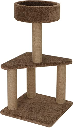 Nova Microdermabrasion Cat Activity Tree Tower with Scratching Posts -15.94 x 15.94 x 31.69 Inches